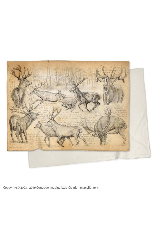 Marcello-art: Plaid Plaid 271 Red deer