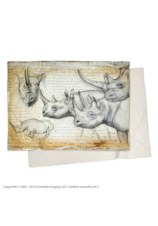 Marcello-art : Plaid Plaid 176 Rhino noir