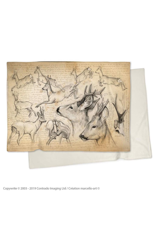 Marcello-art: Plaid Plaid 110 Roe deer