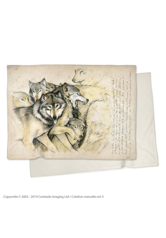 Marcello-art: Plaid Plaid 25 Wolf