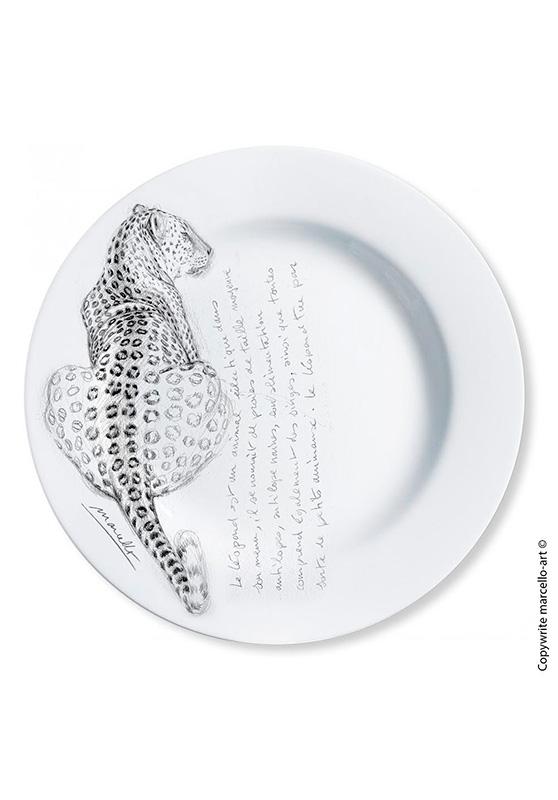 Marcello-art : Assiettes de décoration Assiette décorative 1 Léopard / Kaga-hélé