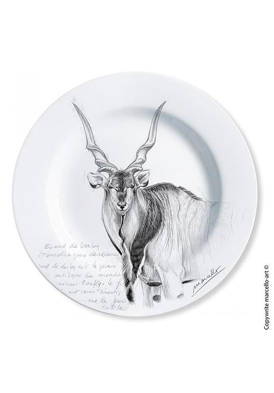 Marcello-art : Assiettes de décoration Assiette décorative 2 Eland-de-Derby