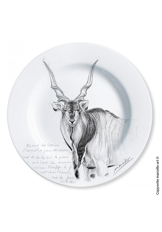 Marcello-art: Decorating Plates Decoration plates 2 Giant eland