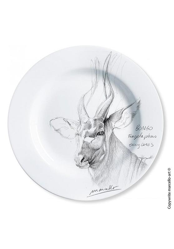 Marcello-art : Assiettes de décoration Assiette décorative 3 Bongo - noir