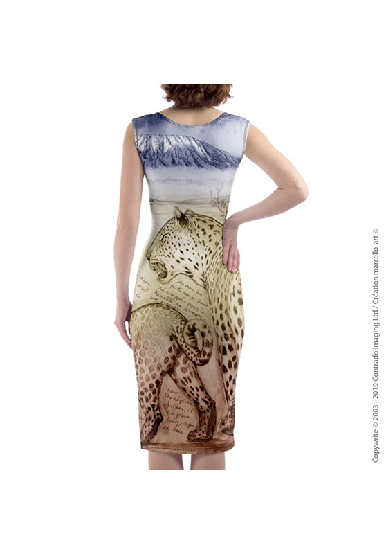 Marcello-art: Dresses Mid-length dress 252 Leopard sunset