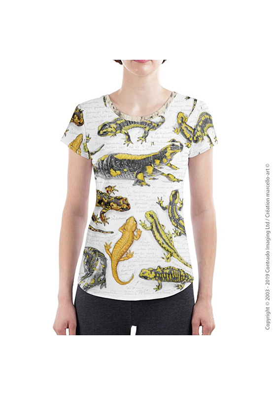 Marcello-art: Short sleeved T-shirt Slim fit T-Shirt 383 Salamander