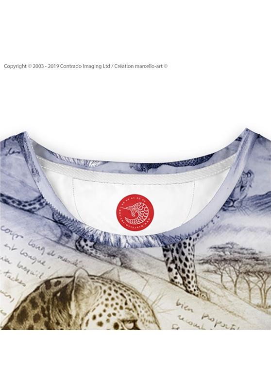 Marcello-art : T-shirt manches longues T-Shirt manches longues 252 Léopard sunset