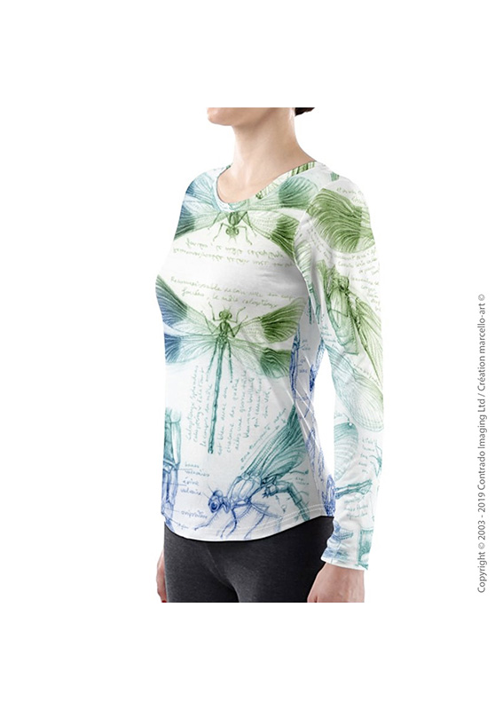 Marcello-art: Long sleeved T-shirt Long Sleeve T-Shirt 255 Caloptéryx