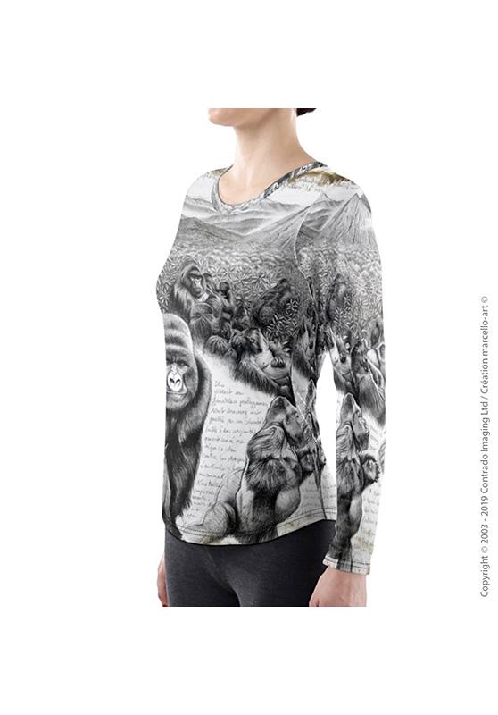 Marcello-art: Long sleeved T-shirt Long Sleeve T-Shirt 301 Virunga gorilla