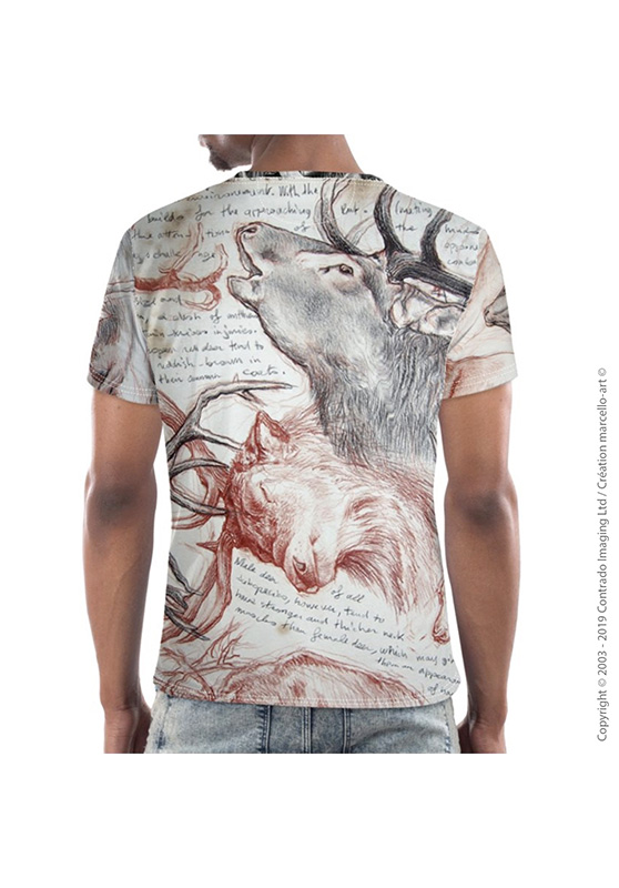 Marcello-art: Short sleeved T-shirt Short Sleeve T-Shirt 278 Red deer