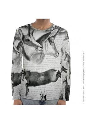 Marcello-art : Pour hommes T-Shirt manches longues 349 Chamois