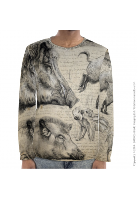 Marcello-art: For men Long Sleeve T-Shirt 347 Sus scrofa