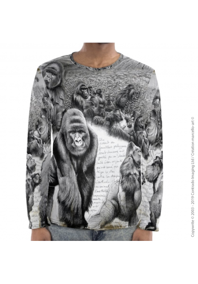 Marcello-art: For men Long Sleeve T-Shirt 301 Virunga gorilla