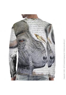 Marcello-art: For men Long Sleeve T-Shirt 227 Red-billed Oxpecker