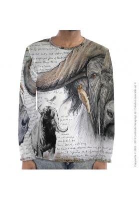 Marcello-art : Pour hommes T-Shirt manches longues 227 Pic boeuf