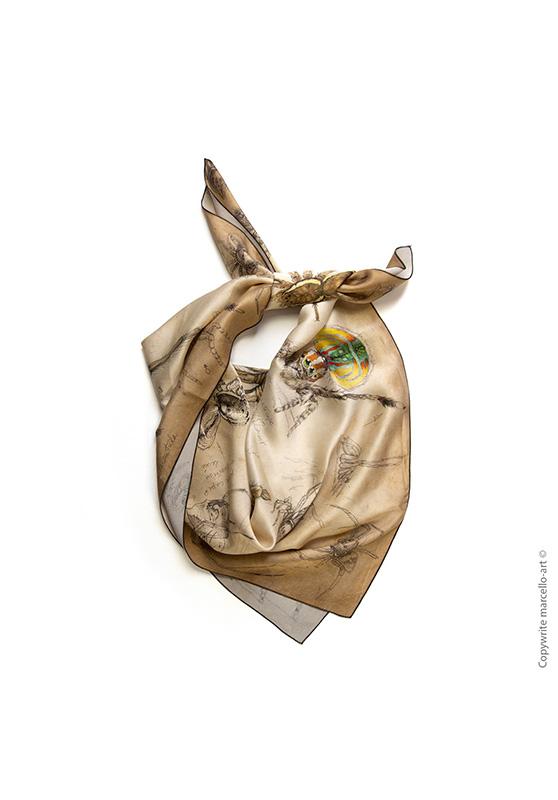 Marcello-art: Square Square scarve 82 Arachna