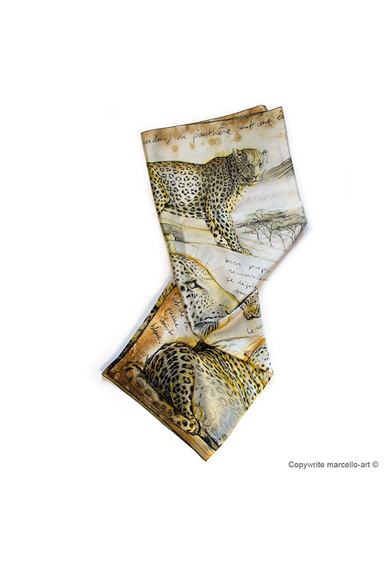 Marcello-art: Rectangular Rectangular scarve 252 Leopard
