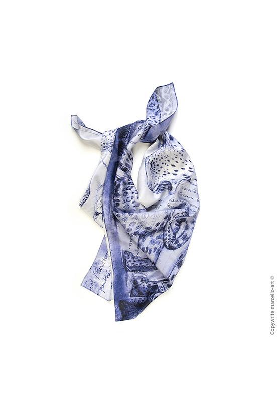 Marcello-art : Rectangulaires Foulard 252 Léopard crépuscule