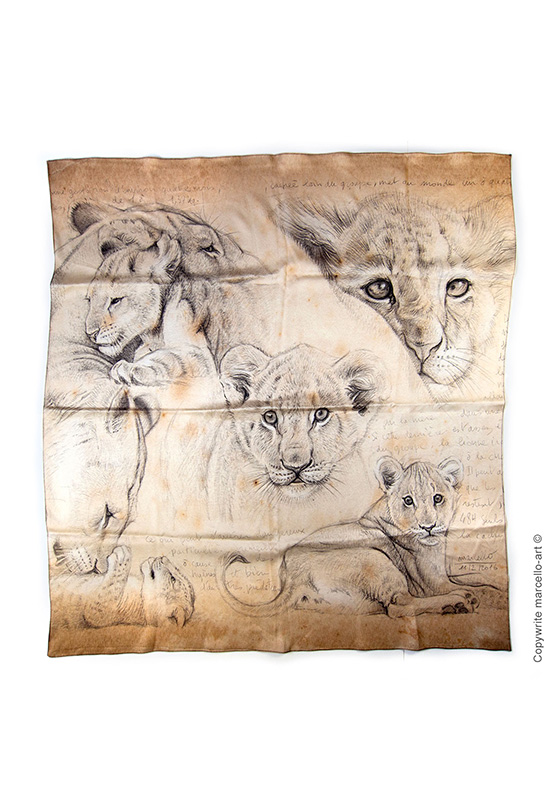 Marcello-art: Rectangular Rectangular scarve 330 Cubs