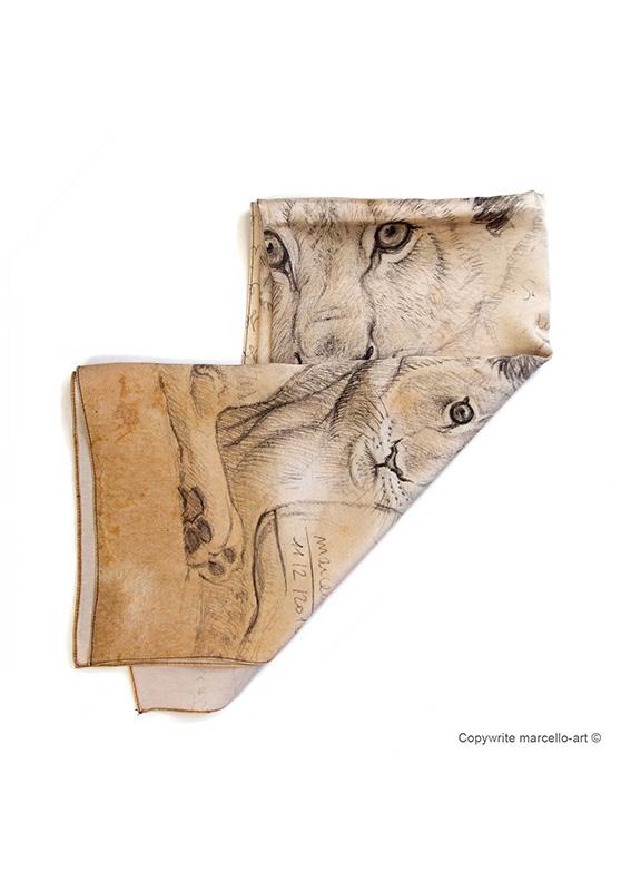 Marcello-art: Rectangular Rectangular scarve 330 Cubs