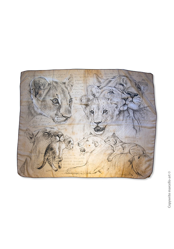 Marcello-art: Rectangular Rectangular scarve 335 Cubs