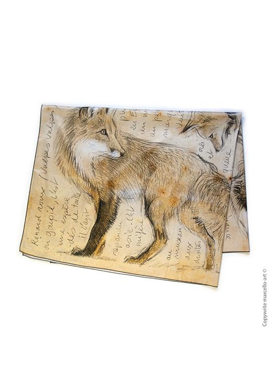 Marcello-art: Rectangular Rectangular scarve 336 Red fox