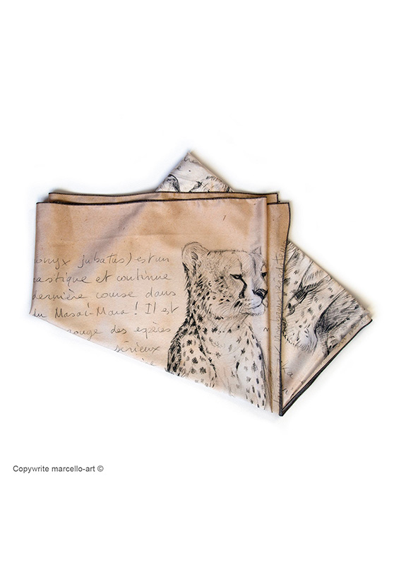 Marcello-art: Rectangular Rectangular scarve 338 Malaika