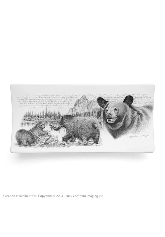 Marcello-art: Rectangular plates Rectangular plate 382 black bear