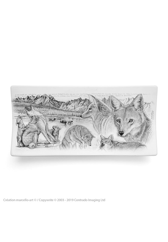 Marcello-art: Rectangular plates Rectangular plate 391 coyote