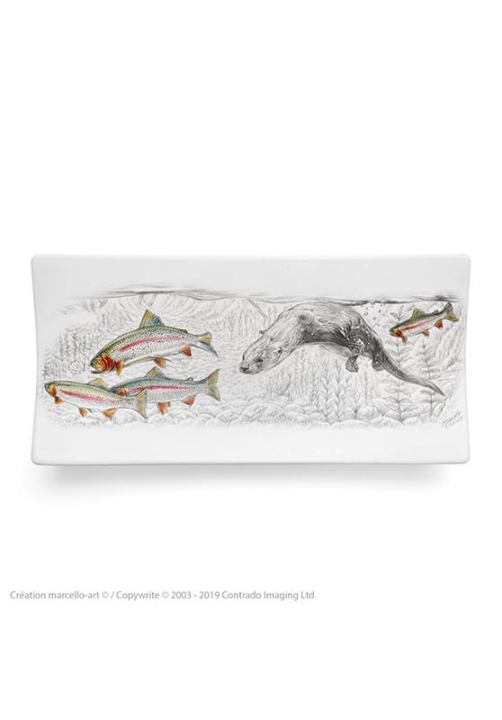 Marcello-art: Rectangular plates Rectangular plate 393 A otter