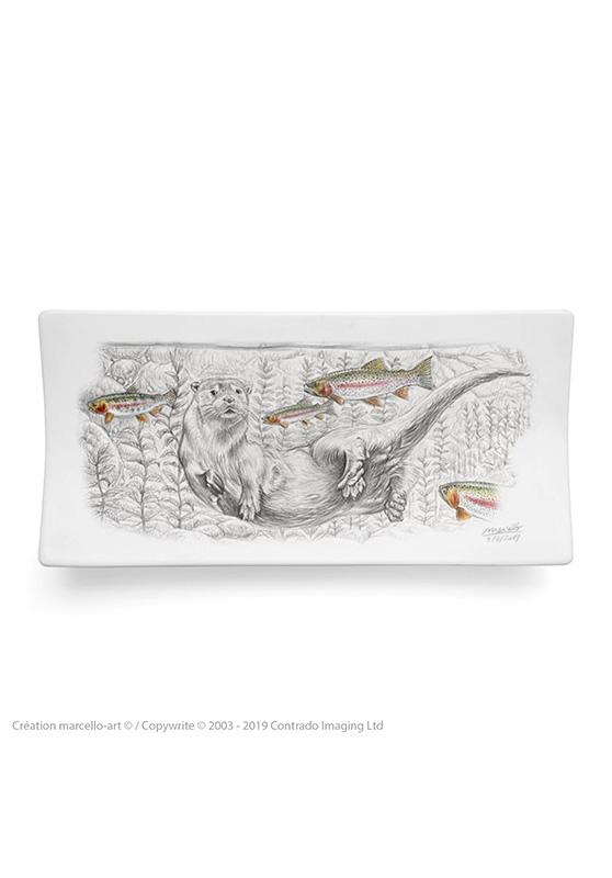 Marcello-art: Rectangular plates Rectangular plate 393 B otter