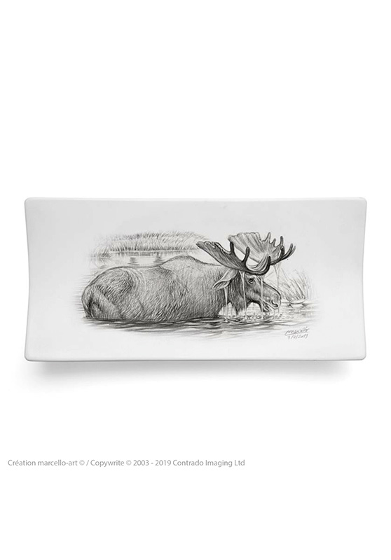Marcello-art: Rectangular plates Rectangular plate 393 moose