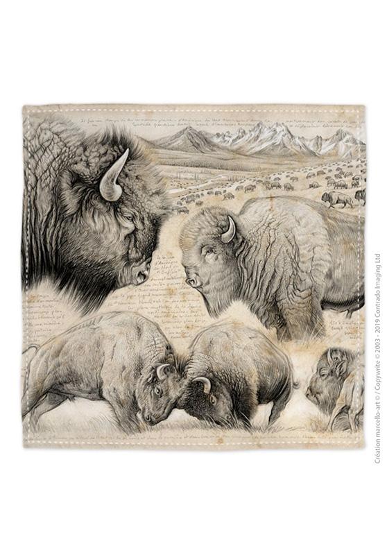 Marcello-art: Bandana Bandana 390 American buffalo