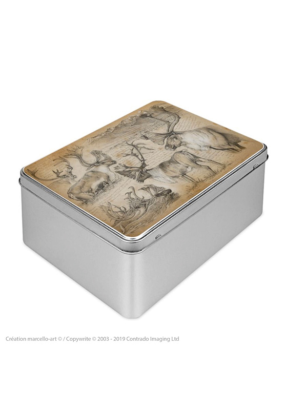 Marcello-art: Rectangular cookie box Rectangular cookie box 190 caribou
