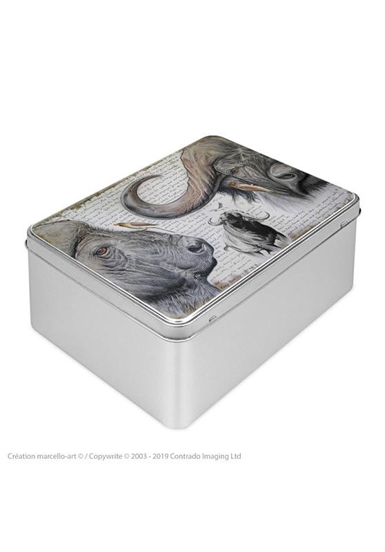 Marcello-art : Boîtes à biscuits rectangulaires Boîte à biscuit rectangulaire 227 pic bœuf