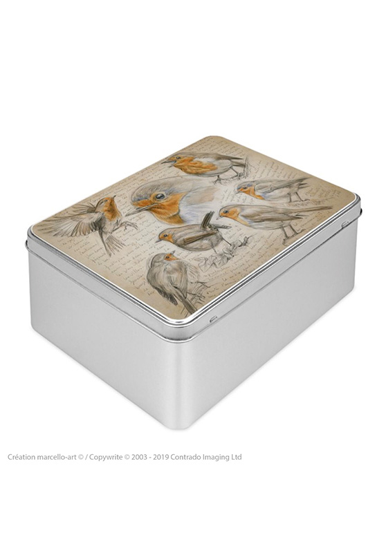 Marcello-art: Rectangular cookie box Rectangular cookie box 282 Robin