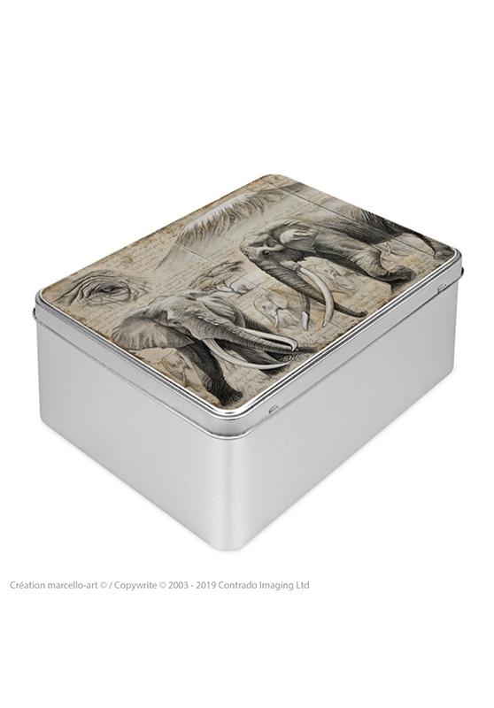 Marcello-art : Boîtes à biscuits rectangulaires Boîte à biscuit rectangulaire 303 Satao