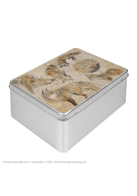 Marcello-art : Boîtes à biscuits rectangulaires Boîte à biscuit rectangulaire 336 renard roux