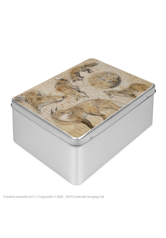 Marcello-art: Rectangular cookie box Rectangular cookie box 303 red fox