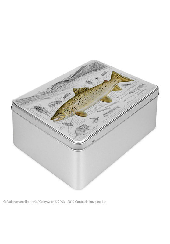 Marcello-art: Rectangular cookie box Rectangular cookie box 372 brown trout