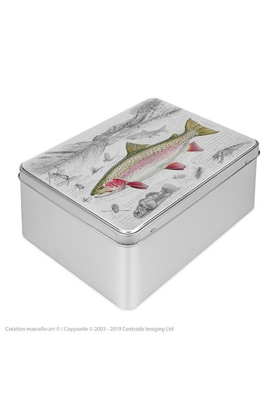 Marcello-art : Boîtes à biscuits rectangulaires Boîte à biscuit rectangulaire 373 truite arc-en-ciel