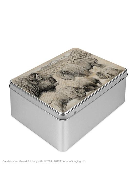 Marcello-art : Boîtes à biscuits rectangulaires Boîte à biscuit rectangulaire 390 bison