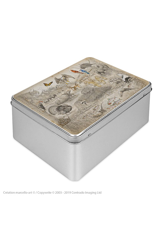 Marcello-art : Boîtes à biscuits rectangulaires Boîte à biscuit rectangulaire 393 faune Américaine