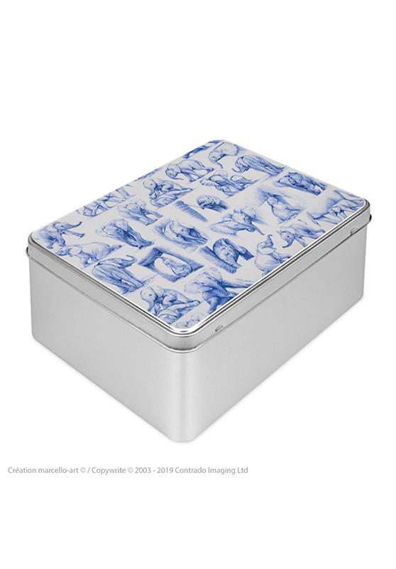 Marcello-art: Rectangular cookie box Rectangular cookie box 392 elephant patchwork ballpoint pen