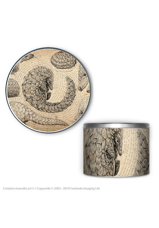 Marcello-art : Accessoires de décoration Boîte à biscuits ronde 276 pangolin