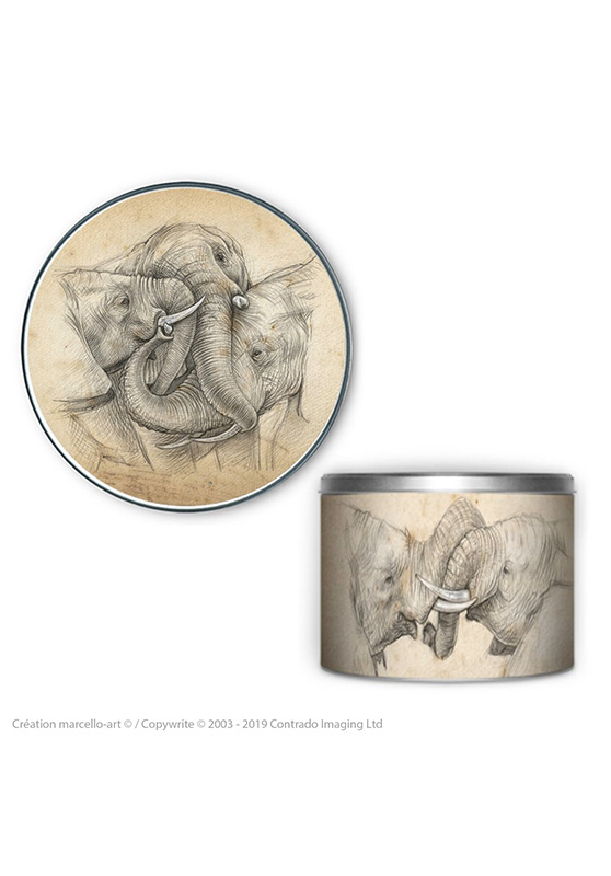 Marcello-art : Accessoires de décoration Boîte à biscuits ronde 286 jeux de trompe