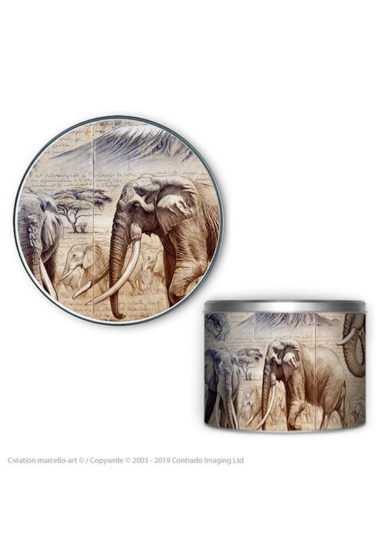 Marcello-art : Accessoires de décoration Boîte à biscuits ronde 303 Satao