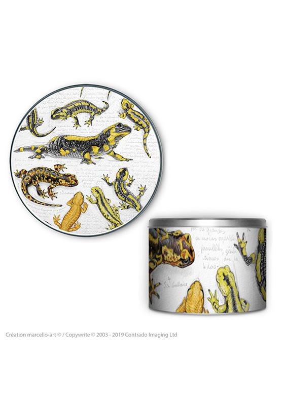 Marcello-art : Accessoires de décoration Boîte à biscuits ronde 338 salamandre
