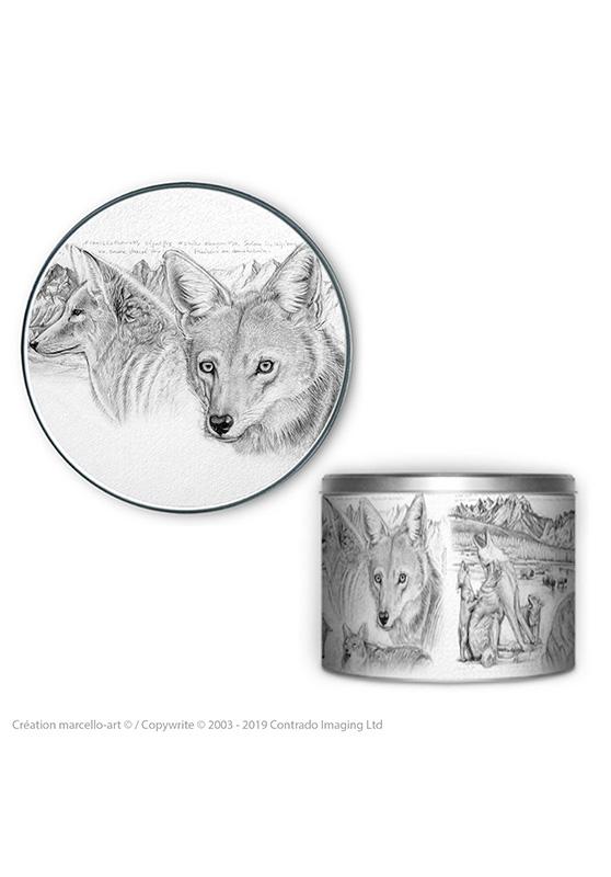 Marcello-art : Accessoires de décoration Boîte à biscuits ronde 391 coyote