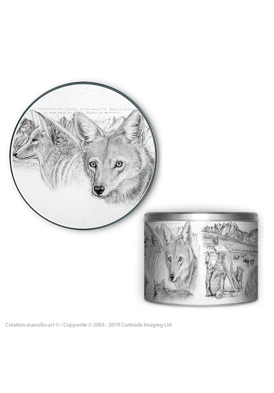 Marcello-art: Decoration accessoiries Round biscuit box 391 coyote